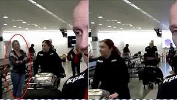 Uważnie obserwuj kobietę stojącą po lewej stronie. Zaraz zrobi coś szokującego!