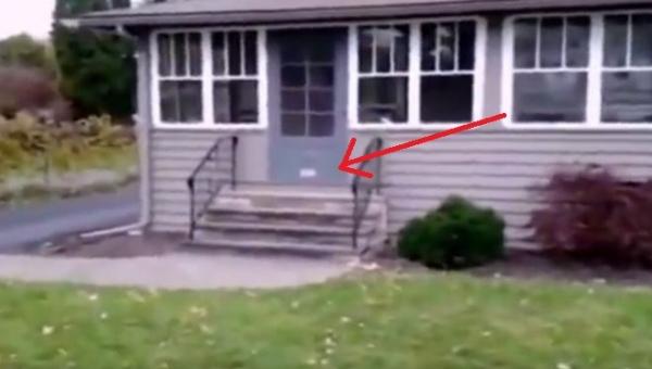 Każdego dnia listonosz próbuje dostarczyć pocztę do tego domu. Zwróć uwagę na...