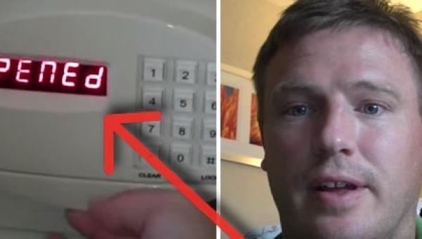 Zapomniał kodu do sejfu w hotelu. Gdy pracownik przyszedł z pomocą, mężczyzna...