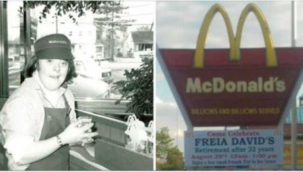 Kobieta z zespołem Downa pracowała w McDonaldzie. 32 lata później przeżyła...