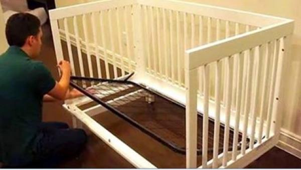 To, co zrobił z łóżeczkiem swojego dziecka, jest świetne!