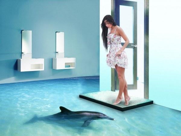 Podłogi 3d Przeniosą Podwodne Królestwo Do Twojej łazienki