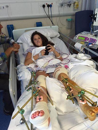 Haddie miała połamane kości, zgruchotane kolana, zerwane więzadła, złamaną...