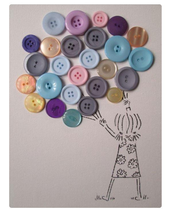 Obrazy zrobione z guzików - proste i efektowne! - Podaj.to