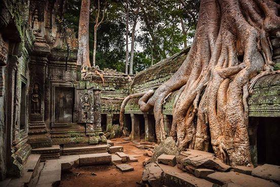2. Starożytne miasto, Angkor, Kambodża.