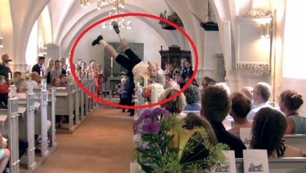 Ludzie czekali na ślub, jednak pan młody razem z kolegami postanowił zrobić...