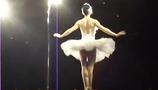 Widzisz baletnicę stojącą na scenie? Zobacz jak bardzo się mylisz!