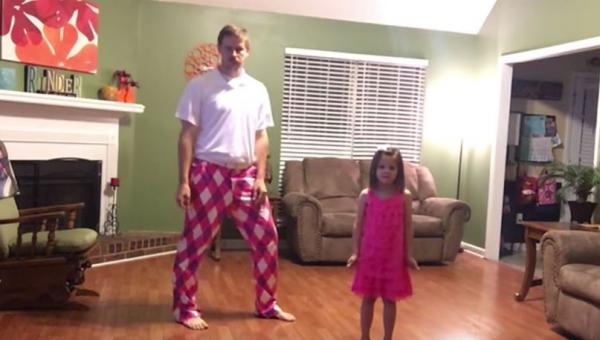 Tata i jego urocza córeczka postanowili nagrać jak razem tańczą. To jest hit!