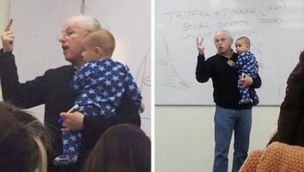 Kobieta zabrała niemowlę na zajęcia, reakcja jej wykładowcy na płacz dziecka...