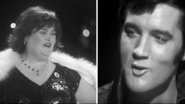 Musicie posłuchać tego zestawienia wykonania Elvisa Presleya i Susan Boyle....