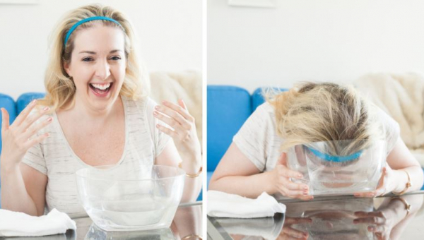 Coraz więcej kobiet zanurza twarz w wodzie gazowanej na 30 sekund. Dowiedz...