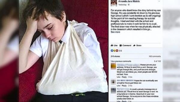 Uczniowie codziennie znęcali się nad niepełnosprawnym chłopcem. Kiedy jego...
