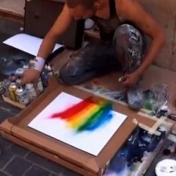Poprosili go by coś dla nich namalował, wtedy on zrobił coś niesamowitego