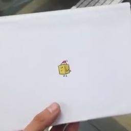 Wygląda jak zwykła kartka świąteczna, jednak to co było w środku jest niesamowit