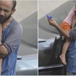 Zamieścił w internecie zdjęcie mężczyzny sprzedającego długopisy na ulicy. Efekt