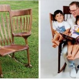 Skonstruował specjalne krzesło dla swoich dzieci! Gdy dowiesz się, w jakim celu,