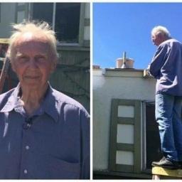 Ten człowiek ma 75 lat i jest samotny. Gdy przyszło do naprawy dachu, mógł liczy