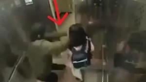 Facet chce porwać dziewczynkę w windzie, nie spodziewa się co zaraz się stanie!