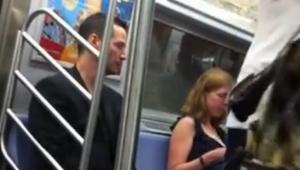 Zobaczył w metrze znanego aktora, zaczął nagrywać, jednak nie spodziewał się co