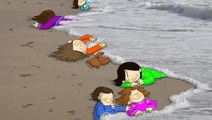 16 poruszających rysunków w hołdzie zmarłemu syryjskiemu chłopcu