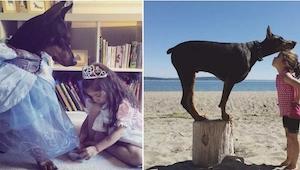 Wyjątkowa przyjaźń wyjątkowej pary - poznajcie trzyletnią Sienę i jej dwuletnieg