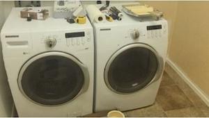 Jego żona akurat wyjechała, więc postanowił co nieco zmienić w ich pralni... Min