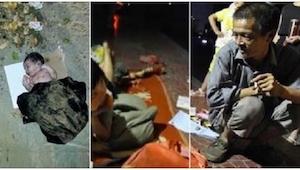 Matka porzuciła swoje dziecko w śmietniku... Zobaczcie, co zrobił pewien bezdomn