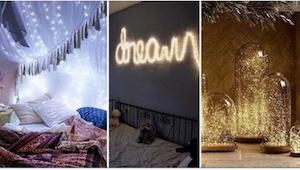 21 świetnych pomysłów na ozdobienie domu... światełkami choinkowymi!