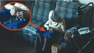 Kamery zarejestrowały, co robi samotna 98-letnia kobieta. Widząc to, każdy będzi