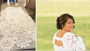 Nie miała pieniędzy na suknię ślubną, więc w osiem miesięcy sama zrobiła po pros