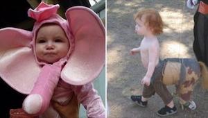 Te dzieci na pewno będą się wyróżniać na karnawałowym balu przebierańców... Tylk