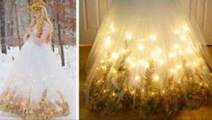 Potrzebowała aż 250 godzin, by uszyć niezwykłą suknię. Zobaczcie inne projekty u