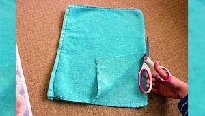 Zaczęła ciąć stary ręcznik, to co otrzymała? Sama muszę taki zrobić!!