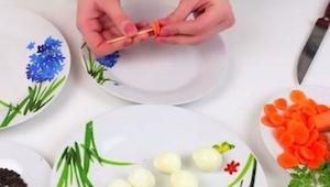 Zobacz jak zrobić oryginalną dekorację na każdy stół używając marchewek i jajek.