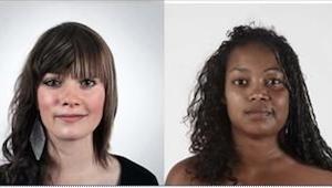 Nie, to nie są zdjęcia dwóch różnych kobiet. Trzeba się dokładnie przyjrzeć, żeb