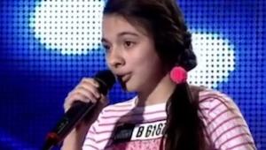 13-letnia dziewczyna zaczęła śpiewać i już chwilę później dostała owację na stoj