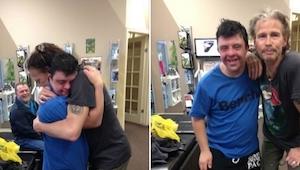 Pewien fan podszedł do Stevena Tylera. Reakcja muzyka wzrusza do łez!