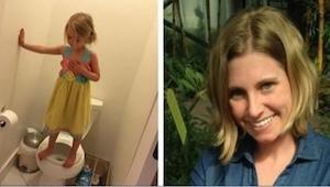 Matka śmiała się, gdy zobaczyła, co jej 3-letnia córka robiła w toalecie, ale gd
