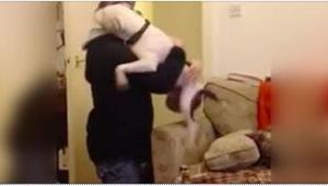 Ten pies został uratowany ze schroniska. Gdy po tygodniowej nieobecności wrócił