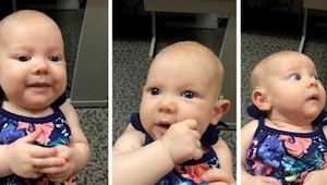 Zobaczcie 3-miesięczną Anabelle, która słyszy pierwszy raz w życiu. W 50 sekundz