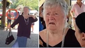 85-letnia pani pozuje do zdjęcia. To, co chwilę potem dzieje się wokół niej, zaw