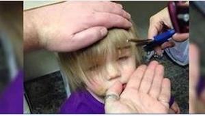 Jego córka chciała mieć ładną fryzurę, więc zrobił TO!