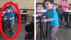 6-latek szukał swojej nauczycielki. Gdy jego koledzy zobaczyli, co robi, zaczęli