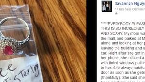 Pierścionek i karteczka za wycieraczką przeraziły kobietę. Powód jest szokujący.