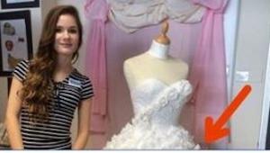 15-latka wykonała niezwykły projekt sukni ślubnej. To, co wymyśliła, jest niewia