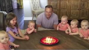 Te dzieci z niecierpliwością czekały na tort. Wszystko się zmieniło gdy tatuś zd