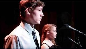 Para nastolatków wykonuje słynną piosenkę The Prayer. Zdziwicie się, gdy ten chł