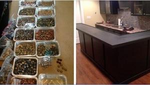 Tata zbierał kapsle, żeby przerobić kuchnie. Efekt jest marzeniem każdego perfek