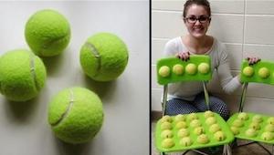Kiedy ta nauczycielka przykleiła piłki tenisowe do krzeseł nie spodziewała się j