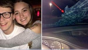 Późnym wieczorem znalazła koszulę na przedniej szybie auta. Na całe szczęście pr